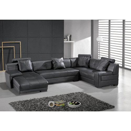 Hokku Designs Houston Leather Sectional by