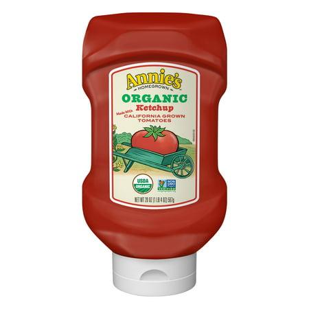 (3 Pack) Annie's Organic, Gluten Free Ketchup, 20 oz Bottle Annies Naturals Organic Ketchup