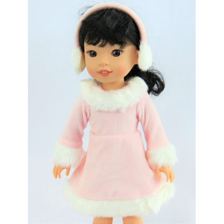 - Pink Ice Skating Outfit -Fits 14 Inch Wellie Wisher Dolls | 14 Inch Doll Clothing