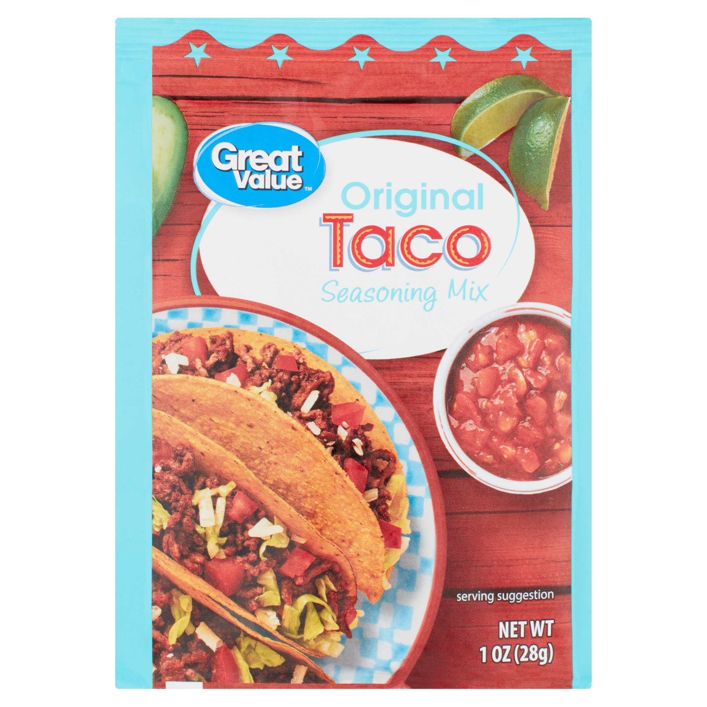 Great Value Original Taco Seasoning Mix 1 Oz Walmart Com Walmart Com