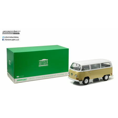 Volkswagen Type 2 Bus - 1:18 Artisan Collection - 1971 Volkswagen Type 2 (T2B) Bus - Kansas Beige and Pastel White