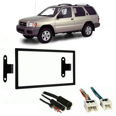- Fits Nissan Pathfinder 1996-2000 Double DIN Harness Radio Install Dash Kit