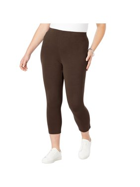 462d79312870f5 Product Image Roaman's Plus Size Essential Stretch Capri Legging