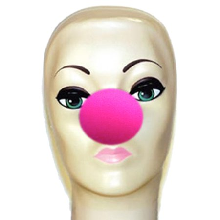 Magic By Gosh Hot Pink Foam Clown Nose - Latex Clown Nose