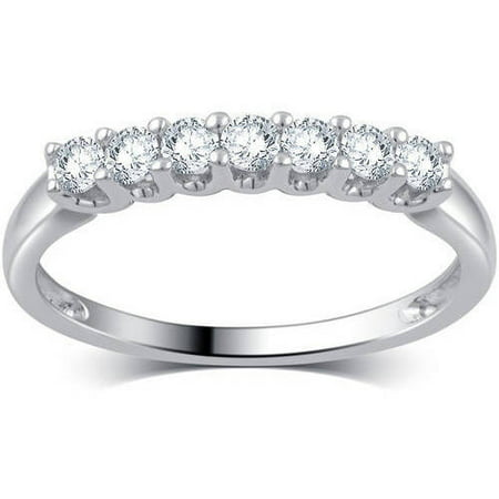13 carat tw round diamond 10kt white gold 7 stone wedding band
