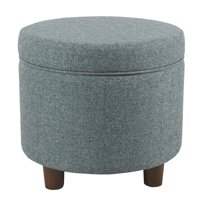 HomePop Round Storage Ottoman, Multiple Colors