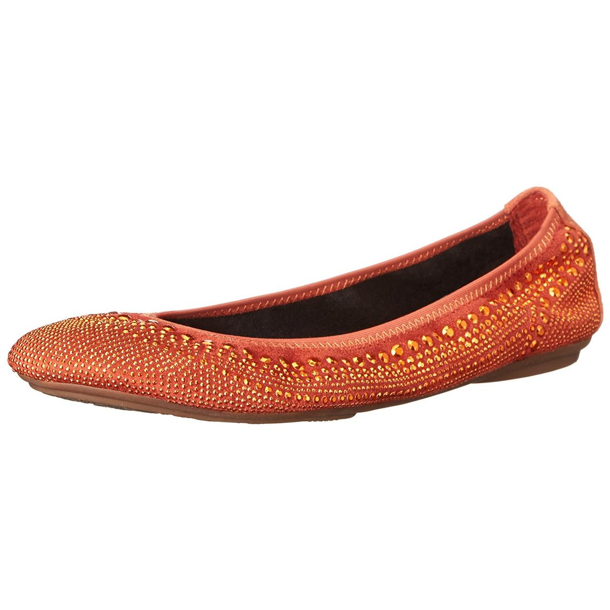 Hush Puppies Caste Ballet Womens Dark Orange Flats by Hush Puppies