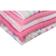 4250ab714 Newborn Baby Girl Assorted Terry Printed Washcloths, 10 Pack Image 3 of 4