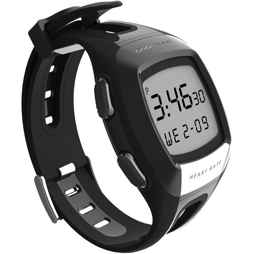 Sportline S7 Any Touch Heart Rate Monitor Watch, Black