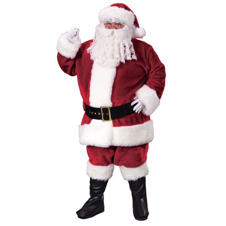 Santa Premium Plush Crimson Adult Suit