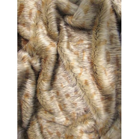 Faux Fake Fur Animal Short Pile Coat Costume Fabric / Hybrid Wolf / Sold By The