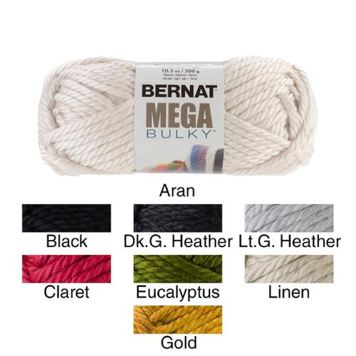 Mega Bulky Yarn Dark Grey Heather