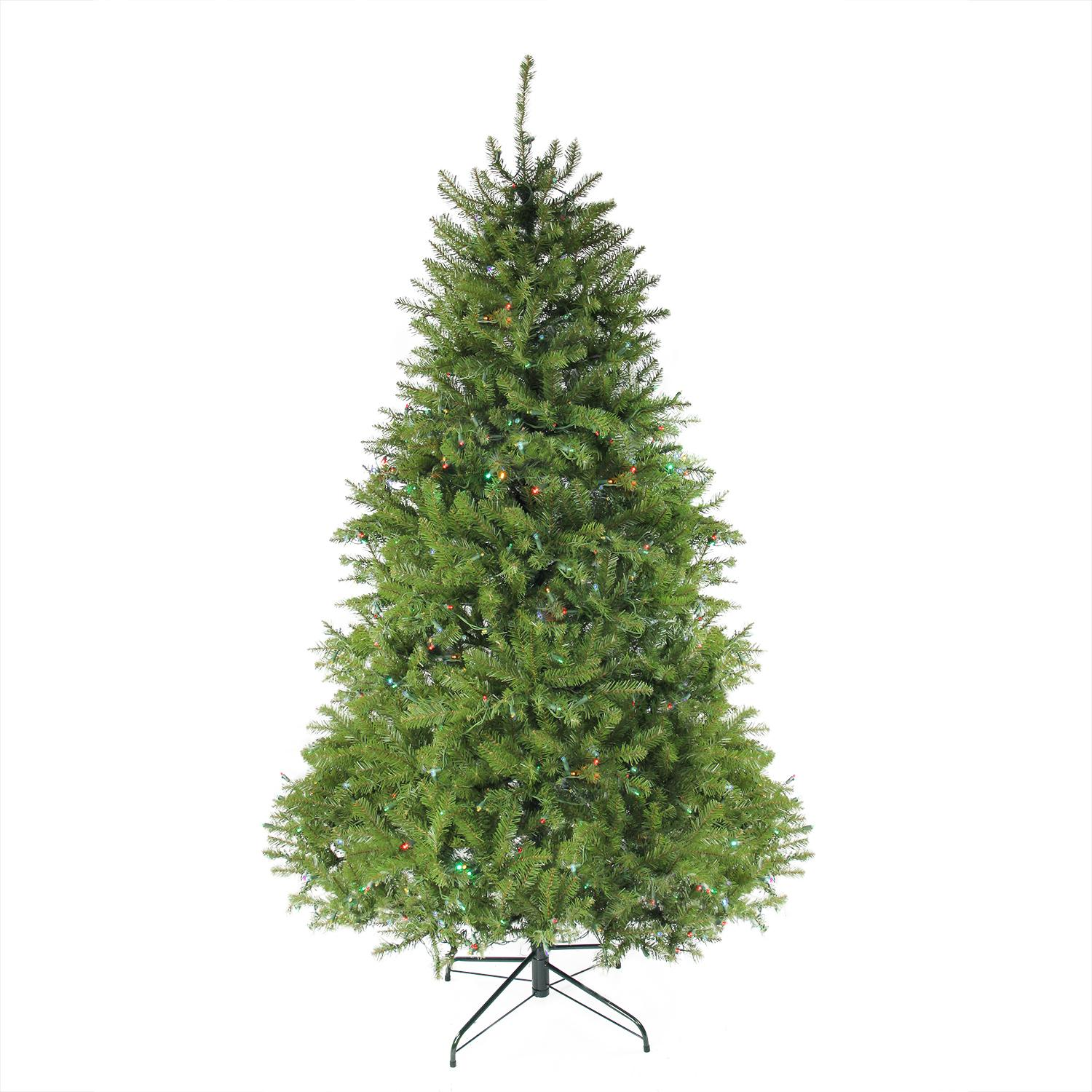 10' Pre-Lit Northern Pine Full Artificial Christmas Tree - Multi-Color Lights