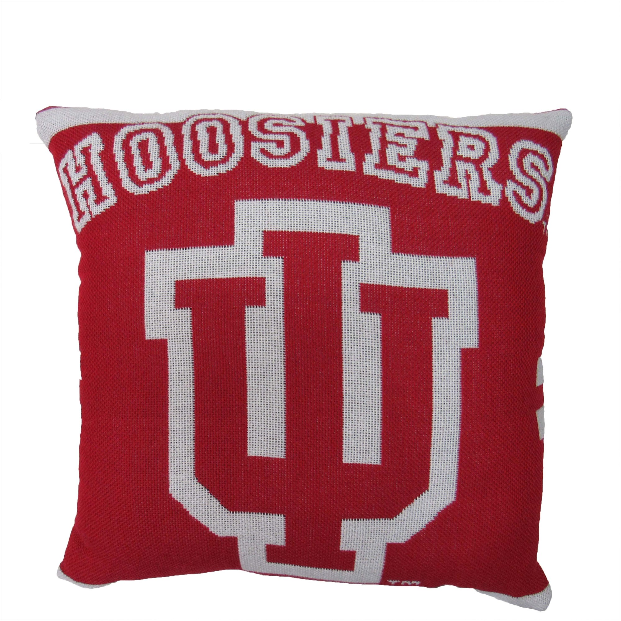 """NCAA University of Indiana University 20"""" Square Decorative Woven Pillow by The Northwest Company"""