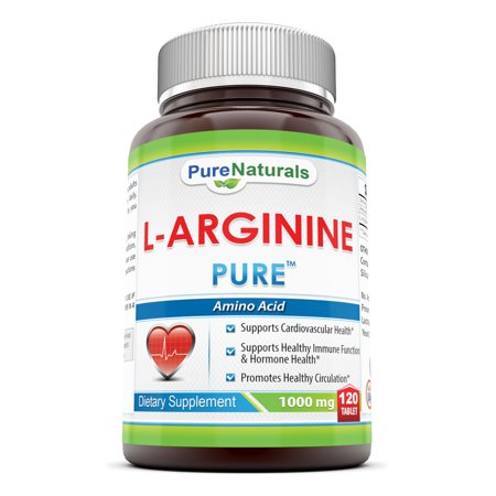 Pure Naturals L-Arginine 1000 Mg 120 Tablets (Best Arginine Supplement For Ed)