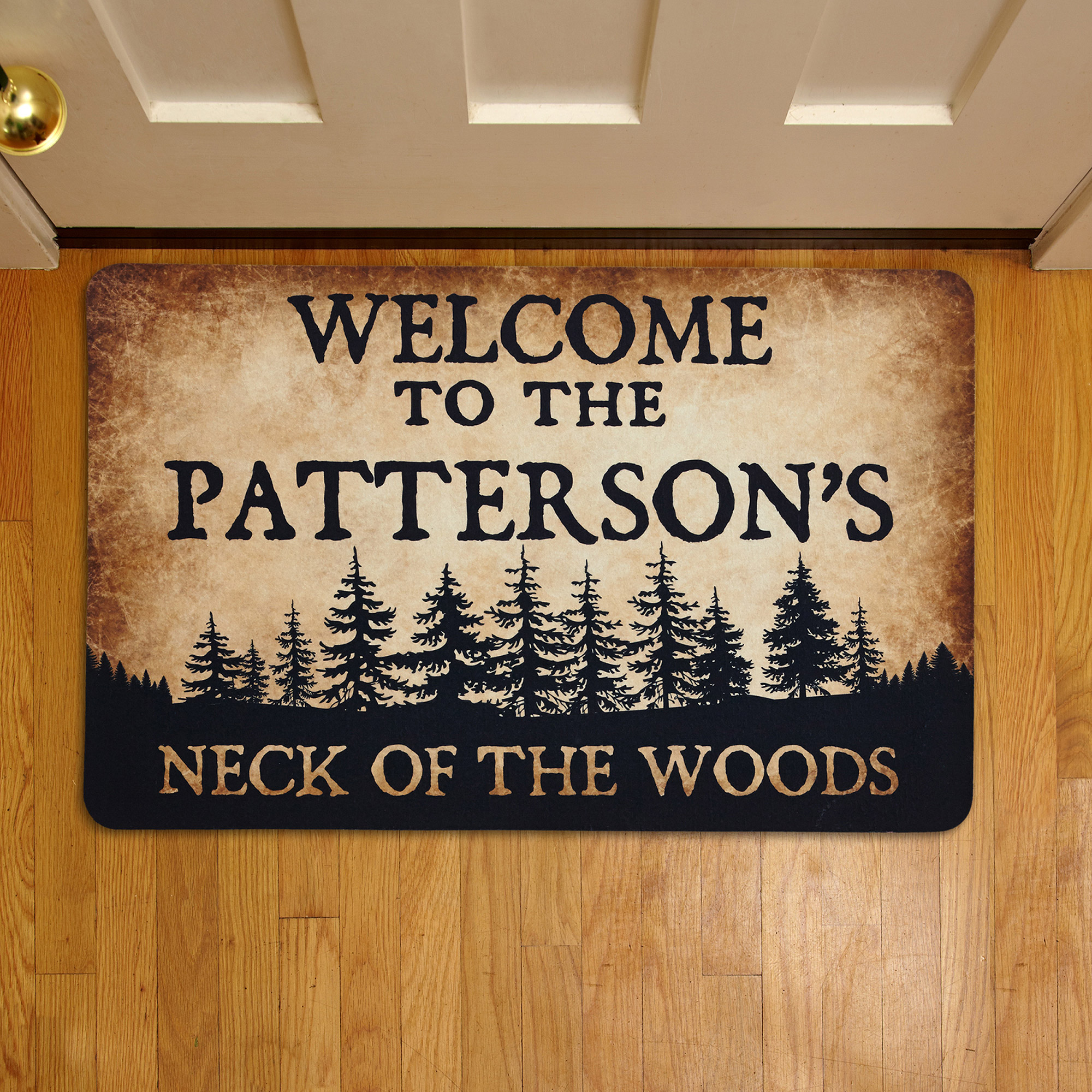 Personalized Neck of the Woods Doormat