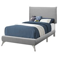 "82.75"" Matte Gray Contemporary Rectangular Bed Frame - Twin Size"