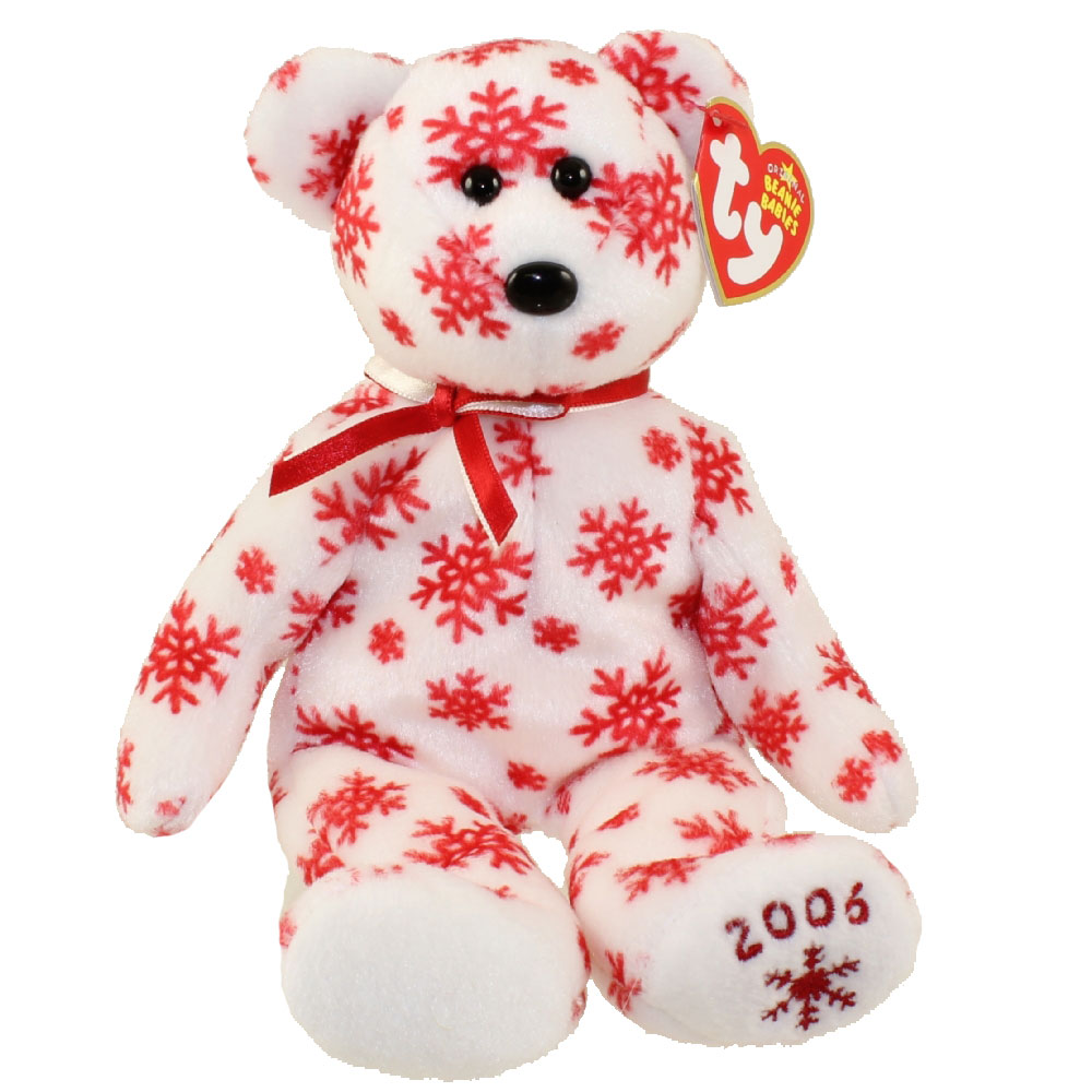 TY Beanie Baby - SNOWBELLES the Bear (White Version) (Hallmark Gold Crown Excl) (9 inch)