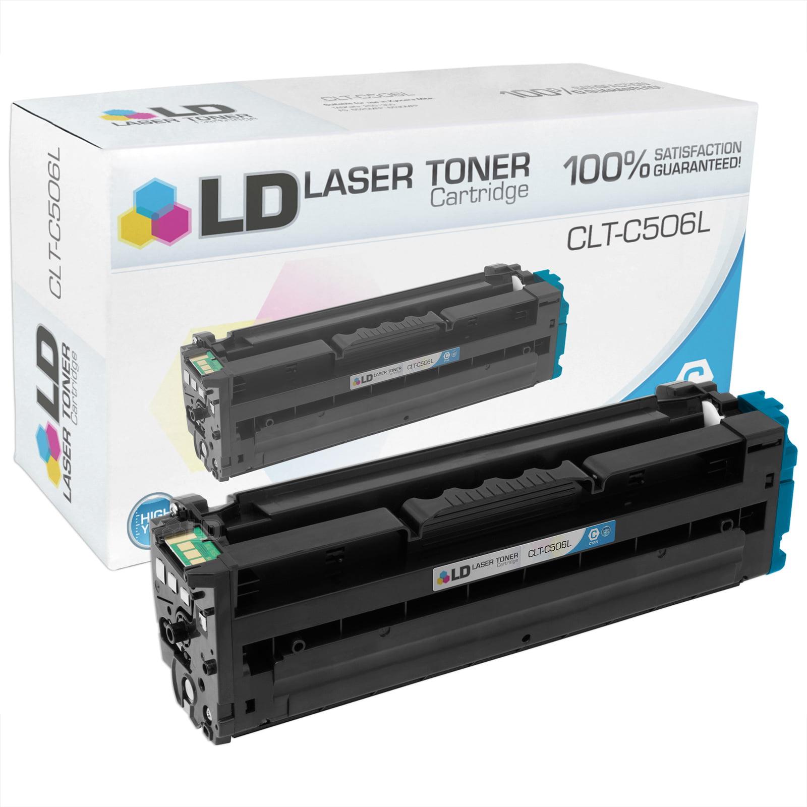 LD Compatible Samsung CLT Set of 4 Toner Cartridges: 1 CLT-K506L Black, 1 CLT-C506L Cyan, 1 CLT-M506L Magenta, and 1