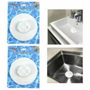 2 Hair Tub Catcher Bath Shower Trap Drain Clean Clogs Filter Cover Bathtub Sink