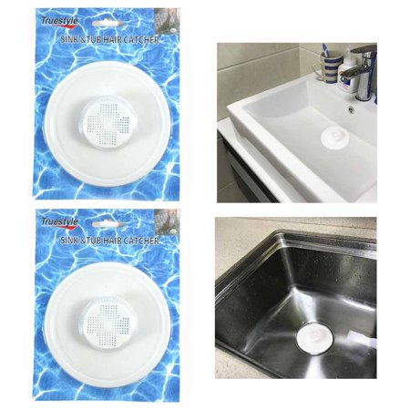2 Hair Tub Catcher Bath Shower Trap Drain Clean Clogs Filter Cover Bathtub (Tub Shower Drain Covers)