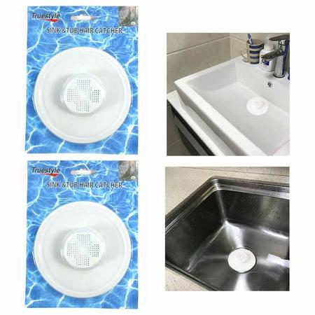 2 Hair Tub Catcher Bath Shower Trap Drain Clean Clogs
