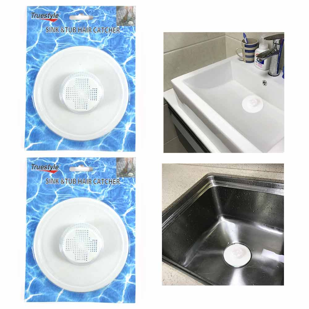 2 Hair Tub Catcher Bath Shower Trap Drain Clean Clogs Filter Cover Bathtub Sink