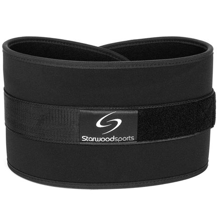 Weight Lifting Belt   Ideal For Powerlifting   Squats  Deadlifts   Neoprene Weight Training Belt With Velcro Closure  Black   S  28     33