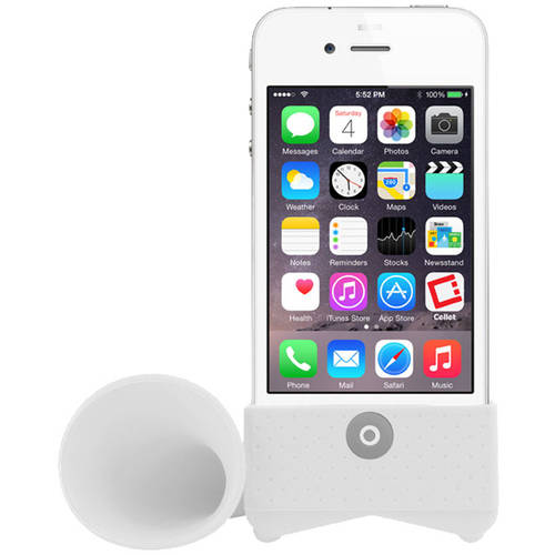 White Amplifying Speaker For Apple IPhone 4/4s