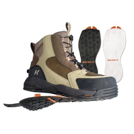 Korkers Redside Boot with Felt and Kling-On Outsole, (Korkers Studded Felt)