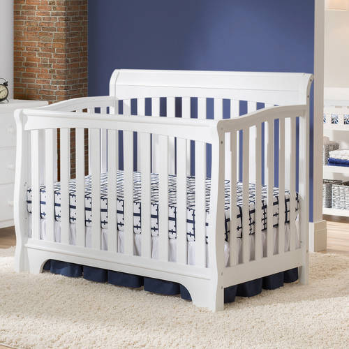 Delta Children Eclipse 4-in-1 Convertible Fixed-Side Crib, (Choose Your Finish)