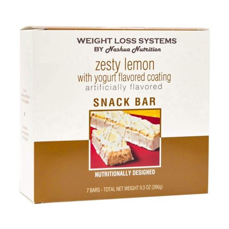 Weight Loss Systems Protein Bar - Zesty Lemon - 7/Box - High Protein - Low Calorie -