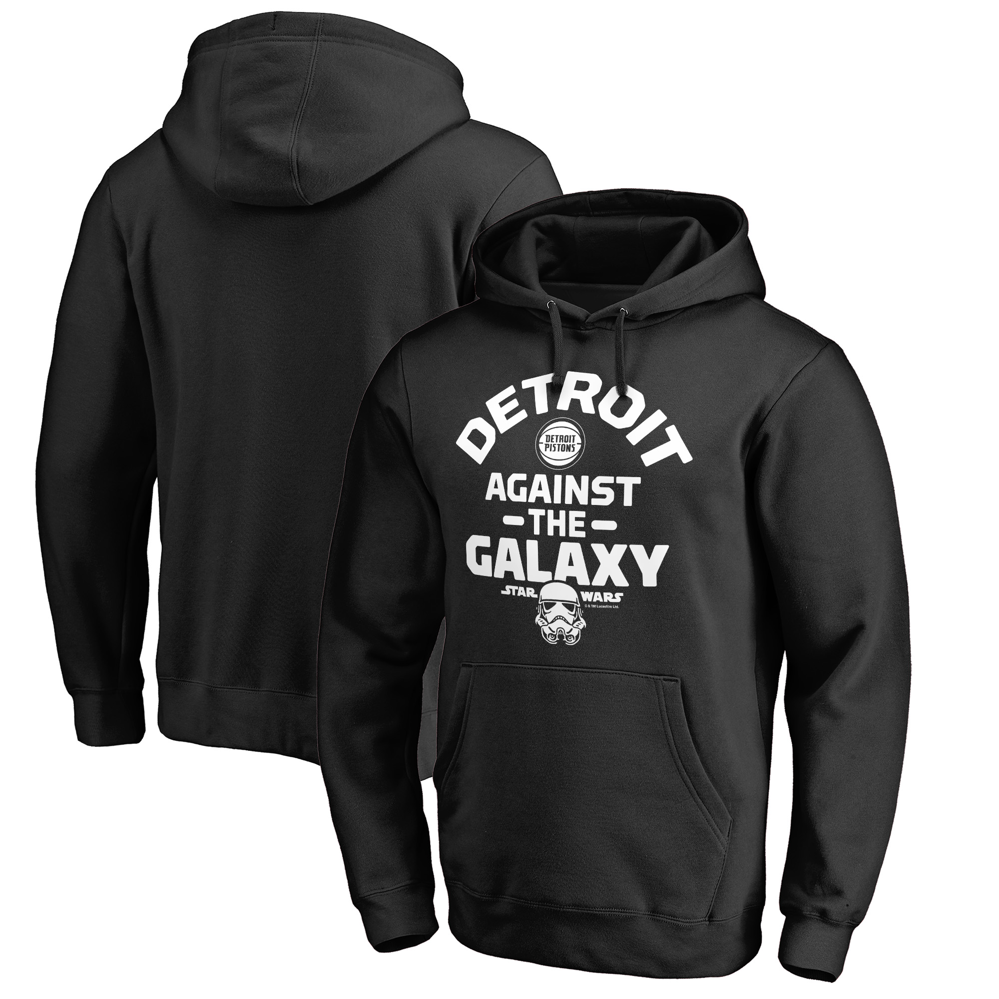 Detroit Pistons Fanatics Branded Star Wars Against the Galaxy Pullover Hoodie - Black