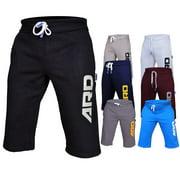 ARD CHAMPS? Mens Cotton Fleece Shorts Jogging Casual Home Wear MMA Boxing Martial Art, Size XL