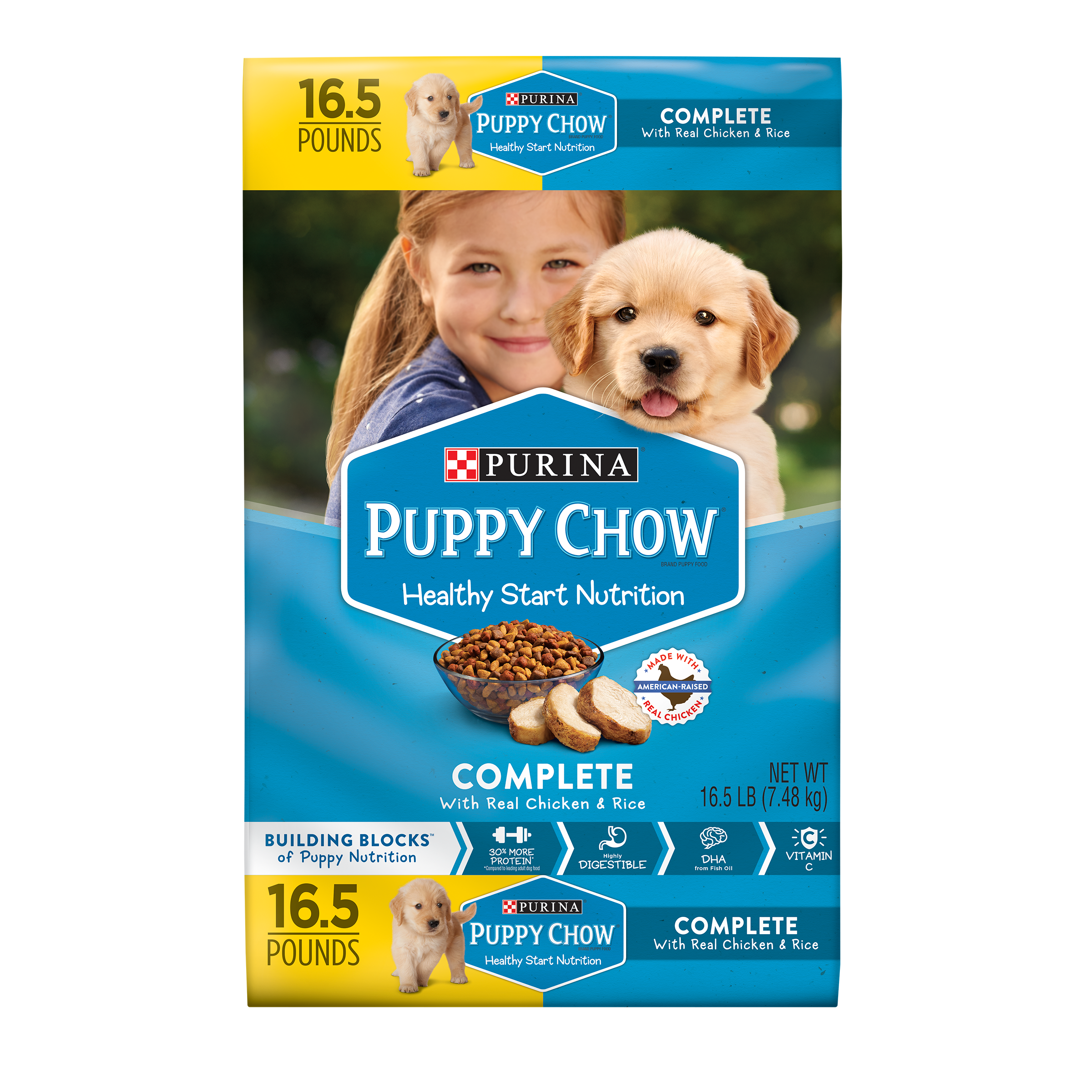 Purina Puppy Chow Complete With Real Chicken Dry Puppy Food - 16.5 lb. Bag