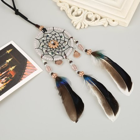 Rdeghly Hanging dreamcatcher, Car Pendant dreamcatcher,1 PCS Creative Handmade Dream Catcher with Feather Shells Car Pendant Hanging Decoration - image 2 of 7