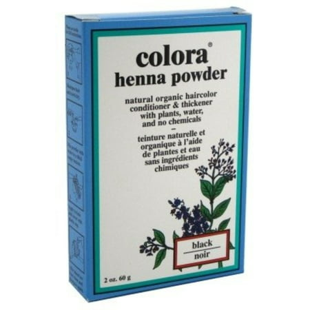 Colora Henna Powder  Hair Color Black, 2 oz