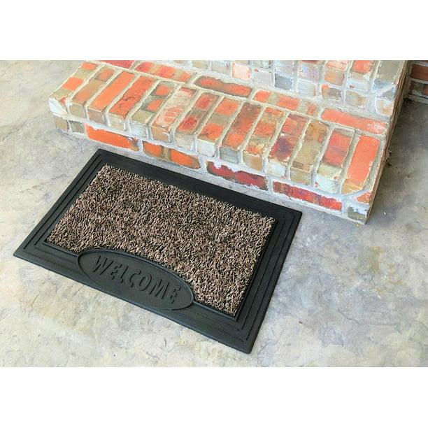 Mainstays Scraper Outdoor Doormat Welcome Doormat Easy To Clean 17 5 X 29 5 Walmart Com Walmart Com