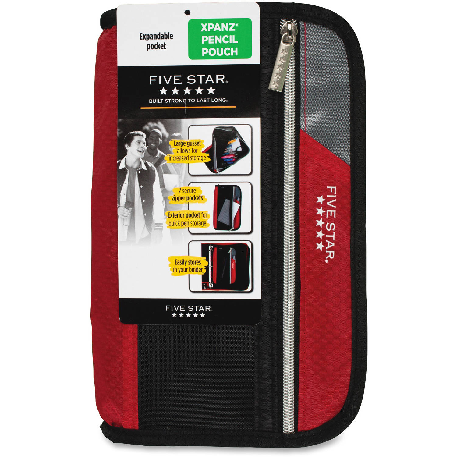 Five Star Xpanz Carrying Case for Pencil, Pen, Supplies, Assorted