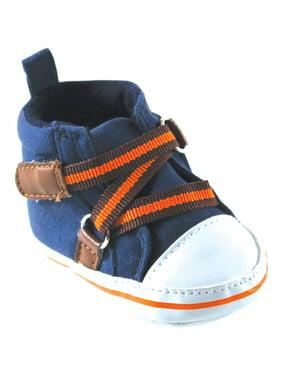 Newborn Baby Boy Zig Zag Hi-Top Shoes