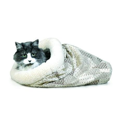 Kitty Crinkle Sack Tan 17 x 17.5 x 4.5