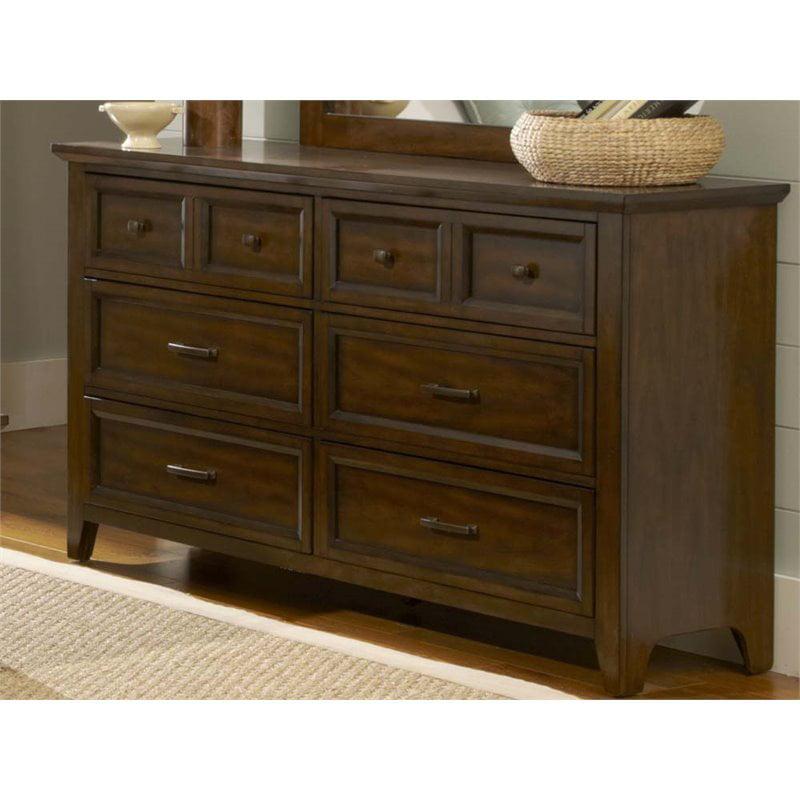 Liberty Furniture Laurel Creek 6 Drawer Dresser in Cinnamon