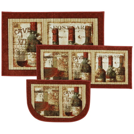 Mohawk New Wave Set Area Rugs 12163 416 Contemporary Red