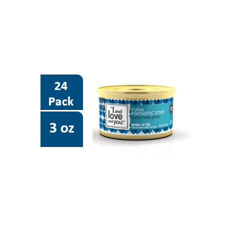 "(24 Pack) ""I and love and you."" Tuna Fintastic Stew Wet Cat Food - 3 oz."