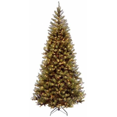 National Tree Pre-Lit 7-1/2' Aspen Spruce Hinged Artificial Christmas Tree with 450 Clear Lights ()