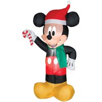 Mickey Mouse Santa with Candy Airblown Halloween Decoration