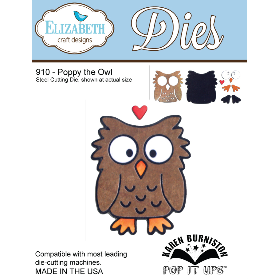 Elizabeth Craft Designs Metal Die-Poppy The Owl Multi-Colored