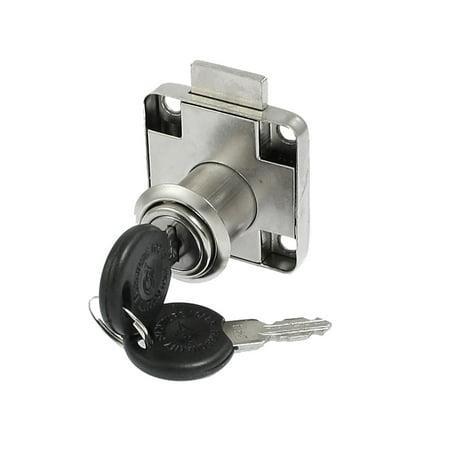Flange Mount Cam Locking Metal Cabinet Lock Lockset w 2 Keys