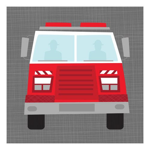 Oopsy Daisy's Ways To Wheel Fire Truck Canvas Wall Art, 10x10