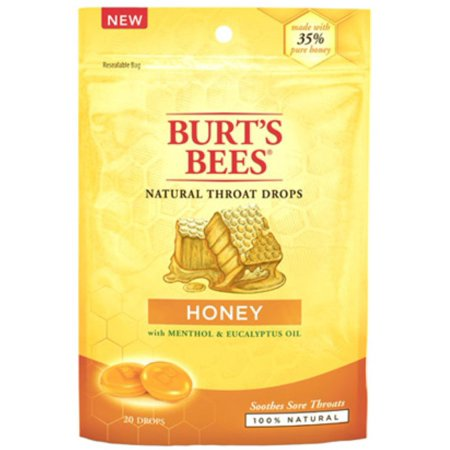 Burt's Bees Natural Throat Drops, Honey 20 ea (Pack of 2) (Honey Bee Gardens Natural)
